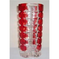 Buy cheap Red glass vase from wholesalers