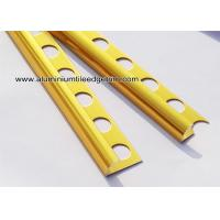 Shiny Deep Gold Quadrant Aluminium Tile Edge Trim Profiles For Tile Installation Manufactures