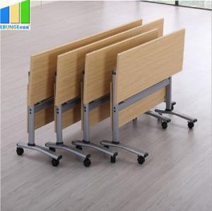 China Ebunge Office Meeting Training Folding School Table Folding Desk With Wheels on sale