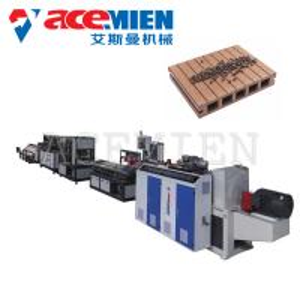 Decking Board Wood Plastic Composite Production Line 60~500kgs/H Durable Manufactures