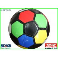 Awesome PVC Leather Colorful Football Soccer Ball Official Size With 32 Panels Manufactures