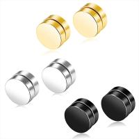Newest Fashion Jewelry Men Stainless Steel Magnetic No Hole Earring Manufactures