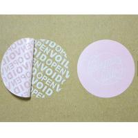 Tamper Proof Security Tape , Warranty Void Labels For Outer Cartons Manufactures