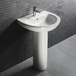 D4009 Bathroom pedestal sink hindware corner wash basin vanity units for bathroom Manufactures
