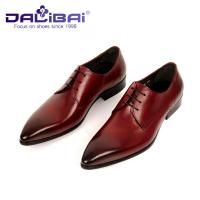 Genuine Leather Pointed Toe Wedding Formal Dress Shoes Men's Italian design Manufactures