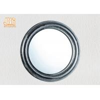 Pratical Glass Framed Fiberglass Wall Mounted Vanity Mirror Round Shape Manufactures