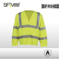 Long sleeve safety vest Flame resistant clothing FR HI VIS with 5cm reflective tape EN ISO 20471 ISO 11612 Manufactures