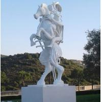 White painting Abstract bronze sculptures, bronze horse with figure statues , China sculpture supplier Manufactures