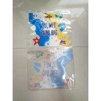 Clear Transparent PVC Plastic Bag For Swimwear / Frosted EVA Wet Bikini Bag Manufactures