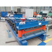 CNC Sheet Roof Panel Roll Forming Machine With Hydraulic Cutting Touch Screen Manufactures