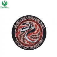 Eye - Catching Custom Woven Patches Colorful Clothes Badges And Patches Manufactures