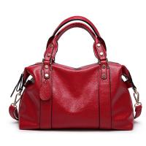Red Ladies Real Leather Handbags38*29*13 Cm Adjustable Shoulder Strap Manufactures