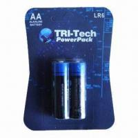 Eco-friendly Alkaline Batteries with 1.5V Nominal Voltage and 1,650mAh Capacity Manufactures