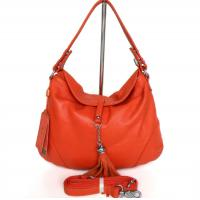 Lady Style Popular Orange Leather Handbag Messenger Shoulder Bag #2490 Manufactures