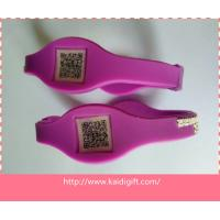 silicone wristband power bangle bracelet with bar code Manufactures