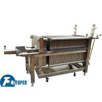 Food Grade SS Plate And Frame Filter Press 0.3Mpa Pressure Type For Beverage Clarify Manufactures