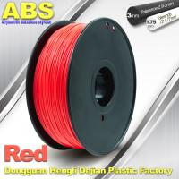 1.75mm /  3.0mm ABS 3d Printer Filament Red With Good Elasticity Manufactures