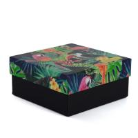 Rigid Cardboard Paper Gift Boxes With Lids And Bottom Custom Printing Service