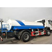 6 Tires Sinotruk Howo Water Tanker Truck LHD / RHD With 266HP Engine , HW76 Cab Manufactures