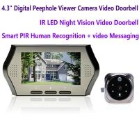 4.3 LCD Electronic Door Peephole Viewer Camera Home Security DVR Night Vision Video Doorbell Door Phone Access Control Manufactures