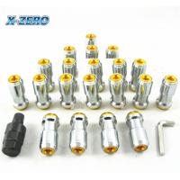 China JDM Extended Dust Cap Tuner Lug Nuts M12x1.25 WHEEL RIMS Tuner With Lock Steel on sale