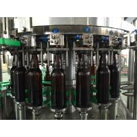 Drinking Water / Beverage Filling Equipment , 3 In 1 Glass Bottle / Can Filling Machine Manufactures