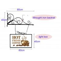 Hanging Sign Bracket Vacuum Forming Light Box Vintage Style With Double Sides Display Manufactures