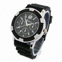 Men's Sports Watch with Silicone Strap and Alloy Case, Fashionable Style on 2013 Manufactures