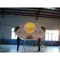 Quality 3.5*2m Reusable Inflatable Advertising Oval Balloon,0.18mm helium quality PVC with Two side printing for opening events for sale