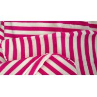 China Red Poplin White Cotton Vertical Striped Fabric For Clothes / Glove / Hat / Cushion on sale