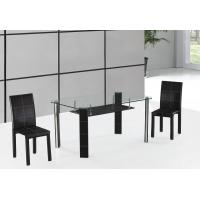 China cheap but high quality chromed-plated tempered glass dining table T046 on sale