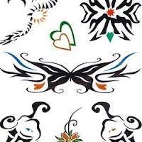 Printable personalized temporary custom Tattoo Sticker with Eco - friendly materials Manufactures