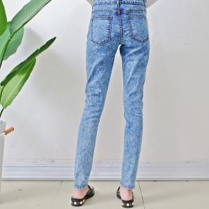 Size10-12-14-16-18 damaged patch women woven denim slim jeans Manufactures