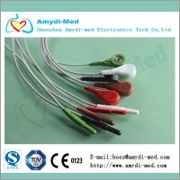 Quality 5 lead din style holter ECG cable leadwires for sale
