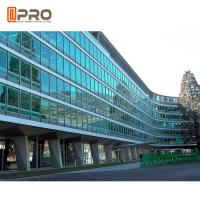 Quality Facade Reflective Glass Invisible Aluminium Curtain Wall For Building Exterior for sale