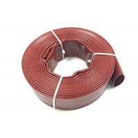 China Heavy Duty PVC Layflat Hose / Pipe With Durable Anti Friction Thicker on sale