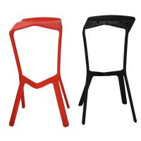 China PP Stacking Plastic Chairs For Dinning Room , Red / Black Bar Stool on sale