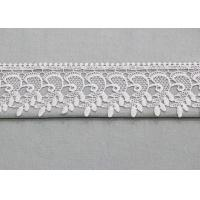 Retro Floral Venice Trim Edging Border Polyester Lace Ribbon For Bridal Gown Manufactures