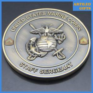 China Offset printing USS San Antonio United States Marine Corps Staff Sergeant coins on sale