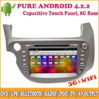 China OEM Manufacturer Auto Radio Dvd Player Dual Core Android Honda Fit with GPS TV Wifi on sale