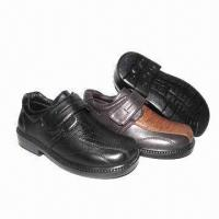 China Children's school shoes with PU upper and injection outsole on sale