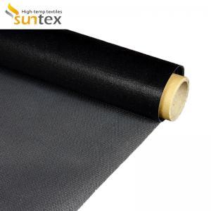 China 0.42mm High Temperature Resistance Lightweight Fiberglass Cloth PTFE Coated on sale