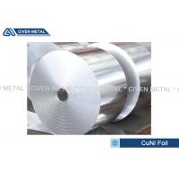 China Thermal Stability CuNi44 Copper Nickel Alloy Foils FOR marine equipment on sale