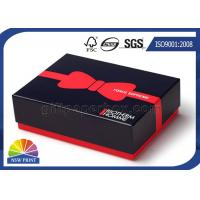 Custom Printed Rigid Paper Gift Box Blister Plastic Tray with Red Liner Manufactures
