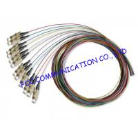 0.9mm LSZH Jacket 1.5M Multimode Pigtail LC Connector For CATV and WAN Manufactures