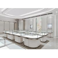 Jewelry Cases For Stores - Fashion Modern Matte White Glass Jewelry Showcase Manufactures