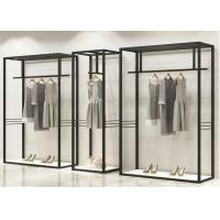 Iron Plating Black Clothing Wall Display Rack With Height 2.2 Meter Manufactures