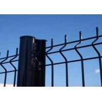 Quality Security Garden PVC Coated V Folds Welded Wire Fence 50 X 200 MM Mesh for sale