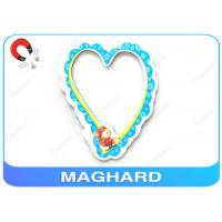 RoHS Offset Printing Magnetic Heart Shaped Photo Frames For Refrigerator , PP Laminated Manufactures
