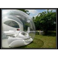 Portable Inflatable Bubble House , Clear Outdoor Camping Tent Manufactures